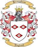 Jernygham Family Crest from England