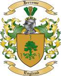 Jerrome Family Crest from England