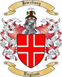 Jewsbury Family Crest from England