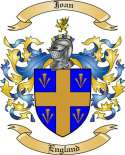 Joan Family Crest from England