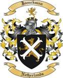 Joenckman Family Crest from Netherlands