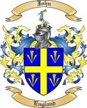 John Family Coat of Arms from England