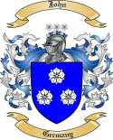 John Family Crest from Germany