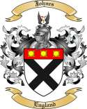 Johnes Family Crest from England3