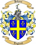 Johnes Family Crest from England