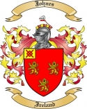 Johnes Family Crest from Ireland
