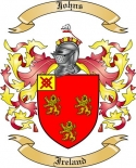 Johns Family Crest from Ireland