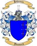 Johnson Family Coat of Arms from Denmark