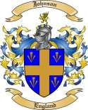 Johnson Family Coat of Arms from England
