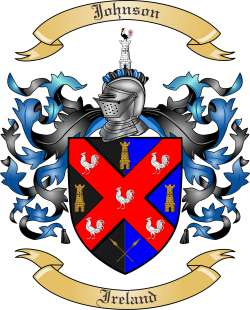 Johnson Family Crest from Ireland by The Tree Maker