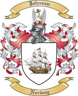 Johnson Family Crest from Norway by The Tree Maker