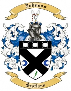 Johnson Family Crest from Scotland by The Tree Maker