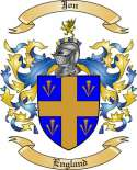 Jon Family Crest from England