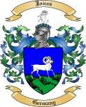 Jonas Family Crest from Germany