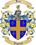 Jone Family Crest from England