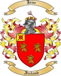 Jone Family Crest from Ireland