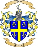 Jone Family Crest from Scotland