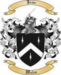 Jone Family Crest from Wales