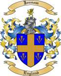 Jonsom Family Crest from England