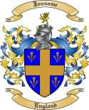 Jonsome Family Crest from England