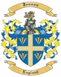 Jonson Family Crest from England