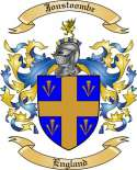 Jonstoombe Family Coat of Arms from England