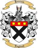 Jonsum Family Crest from England2
