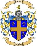 Jonsum Family Crest from England