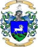 Jonsz Family Crest from Germany