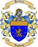 Jordain Family Coat of Arms from England