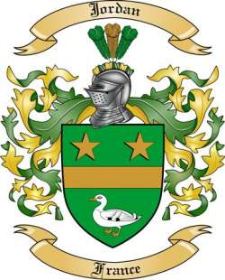 meilleur site web 30541 a892f Jordan Family Crest from France by The Tree Maker