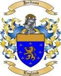 Jordana Family Coat of Arms from England