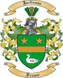 Jordanne Family Coat of Arms from France