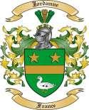 Jordanne Family Crest from France