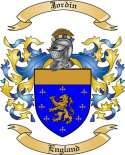 Jordin Family Coat of Arms from England