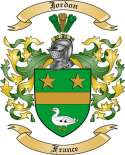 Jordon Family Crest from France