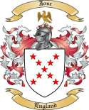 Jose Family Crest from England