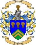 Joseph Family Crest from England