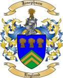 Josephson Family Coat of Arms from England