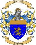 Jourdain Family Coat of Arms from England