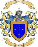 Justice Family Crest from Scotland