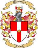 Kaczmarek Family Crest from Poland