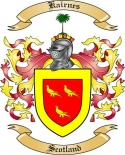 Kairnes Family Crest from Scotland