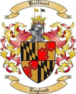 Kallvart Family Coat of Arms from England