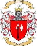 Kalnins Family Crest from Latvia