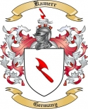 Kamerr Family Coat of Arms from Germany