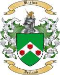 Karins Family Coat of Arms from Ireland