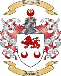 Kavanah Family Coat of Arms from Ireland
