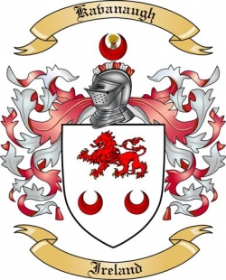 Kavanaugh Family Crest from Ireland by The Tree Maker