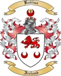 Kavina Family Coat of Arms from Ireland